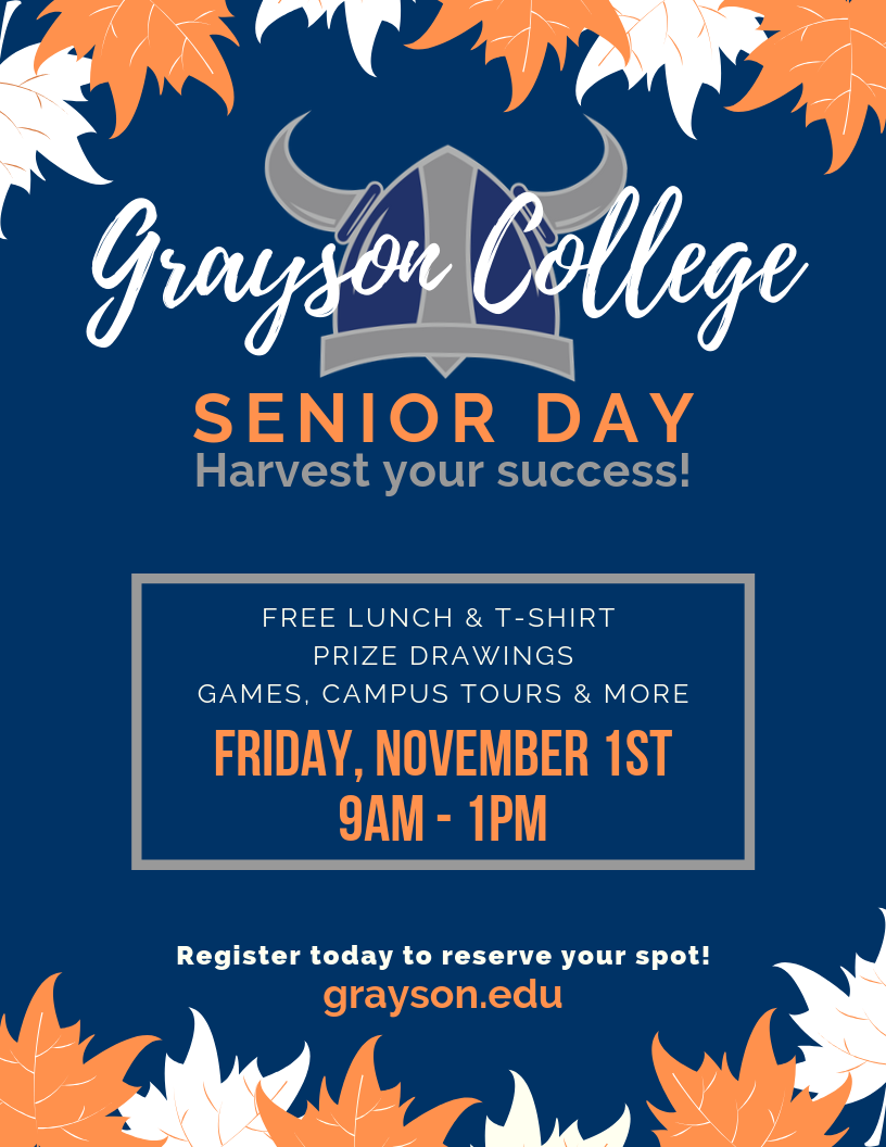 Grayson College Senior Day Flyer