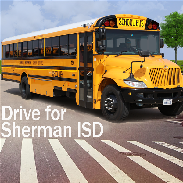 Drive a bus for Sherman ISD