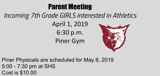 Announcement from Piner!
