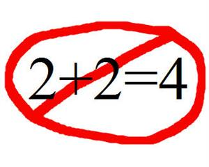 2+2 does not equal 4