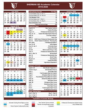Calendario Community Manager 2020.Sherman Isd Board Of Trustees Approve 2019 2020 Academic Calendar