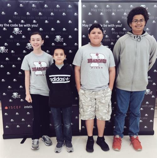 Piner Middle School Coding Team Participates in Cyber-Robotics Competition