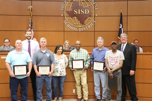Sherman ISD Recognizes Staff Members of the Month