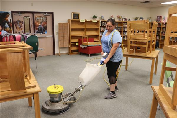 Summer Staff  Works Hard to Prepare for the Upcoming School Year