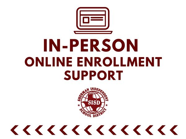 In-Person Online Enrollment Support Dates