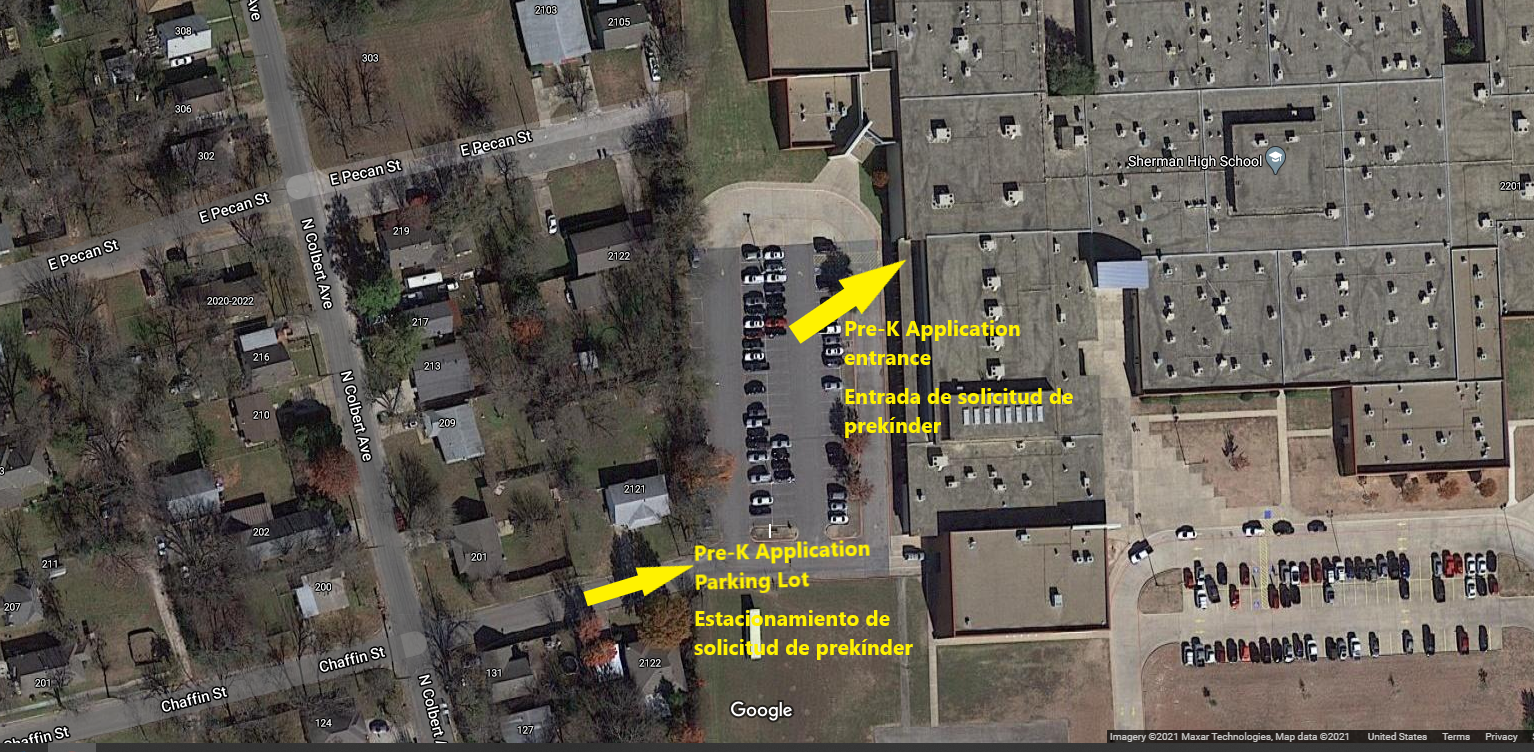 Pre-k Parking Map