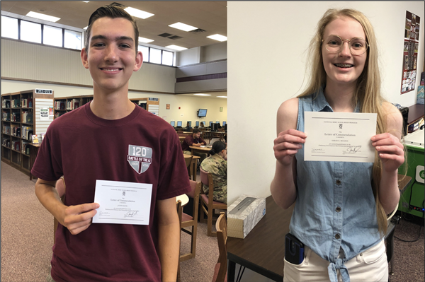 SHS Students Receive Letter of Commendation in the 2020 National Merit Scholarship Program