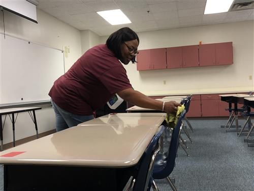 Sharon Moorer works to prepare Dillingham for students