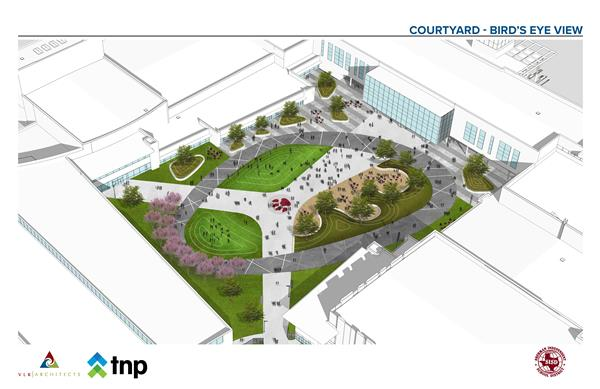 New Sherman High School Courtyard Design Revealed