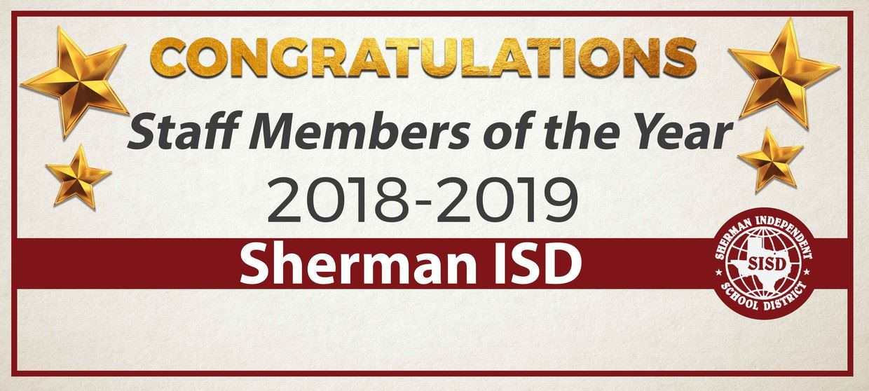 Sherman ISD Celebrates Staff of the Year Honorees