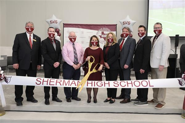 Sherman ISD hosts new SHS Ribbon Cutting Ceremony and Sneak Peek Tour